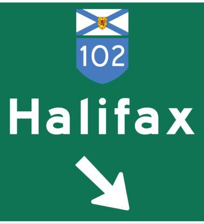 Halifax, Nova Scotia, Road Sign, Canada Sticker