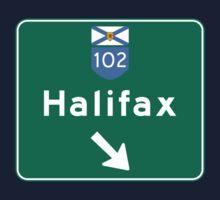 Halifax, Nova Scotia, Road Sign, Canada Kids Tee