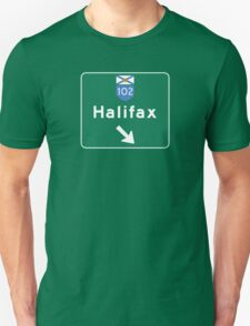 Halifax, Nova Scotia, Road Sign, Canada Unisex T-Shirt