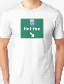 Halifax, Nova Scotia, Road Sign, Canada Unisex T-Shirt