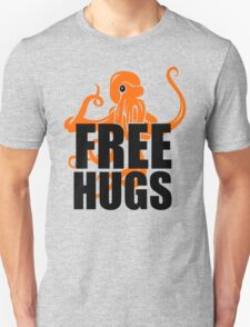 FREE HUGS Funny Humor PEACE AND LOVE Big Bold Hippie TRENDY PARTY T-Shirt