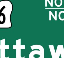 Ottawa, Road Sign, Canada Sticker
