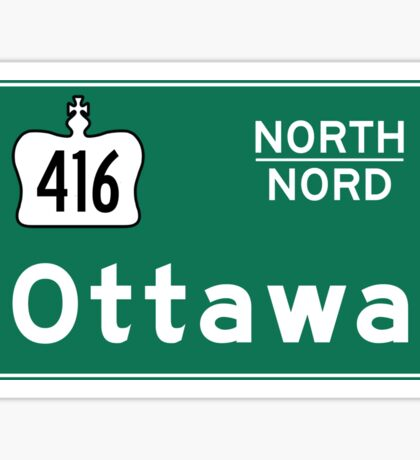 Ottawa, Road Sign, Canada Sticker