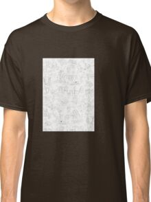 A Garden Of Earthly Delights (Black and White) Classic T-Shirt