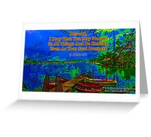 Beloved I pray that you may prosper in all things Greeting Card