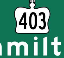 Hamilton, Road Sign, Canada Sticker
