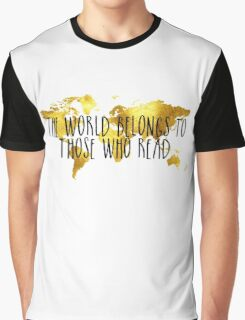 The World Belongs to Those Who Read - Gold Graphic T-Shirt