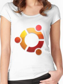 Ubuntu Logo Women's Fitted Scoop T-Shirt