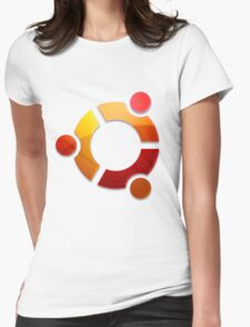 Ubuntu Logo Womens Fitted T-Shirt