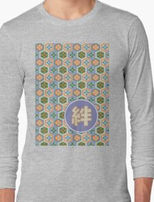 Japanese Tortoiseshell Honeycomb Kizuna Ties That Bind Lavender Orange Long Sleeve T-Shirt