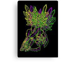 Neon Crystal Skull Canvas Print