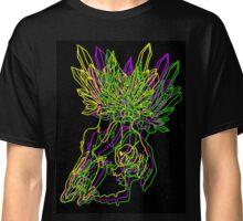 Neon Crystal Skull Classic T-Shirt