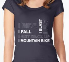 Mountain Bike Women's Fitted Scoop T-Shirt