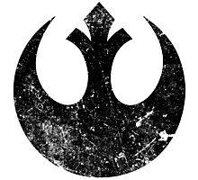 Distressed Rebel Alliance Logo Photographic Print