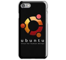 Ubuntu - linux for human beings iPhone Case/Skin