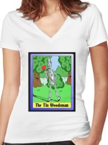 """""""The Tin Woodsman"""" Women's Fitted V-Neck T-Shirt"""