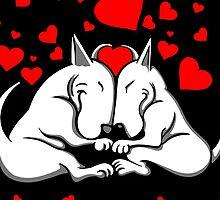 Bull Terriers In Love by Sookiesooker