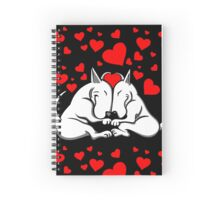 Bull Terriers In Love Spiral Notebook