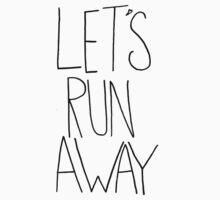Let's Run Away V One Piece - Short Sleeve