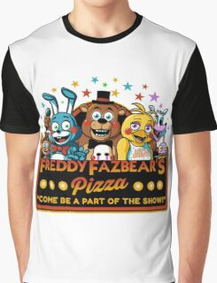 Freddy Fazbear's Pizza Logo Graphic T-Shirt
