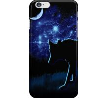 Wolf Stalking by Moonlight iPhone Case/Skin