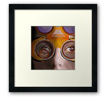 eye as a lens - steampunk variations - detail perspective Framed Print
