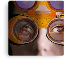 eye as a lens - steampunk variations - detail perspective Canvas Print