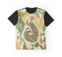 Mother Earth Abstract Illustration Animal Plant Patterns Graphic T-Shirt