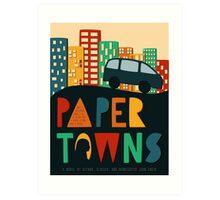 Paper Towns by John Green Book Cover Art Print