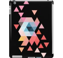 Scattered triangles on black iPad Case/Skin