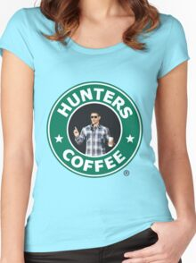 """Supernatural - """"Hunters Coffee"""" Women's Fitted Scoop T-Shirt"""