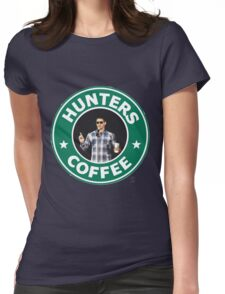 """Supernatural - """"Hunters Coffee"""" Womens Fitted T-Shirt"""