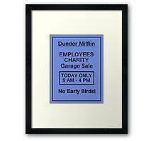 Garage Sale Sign Framed Print