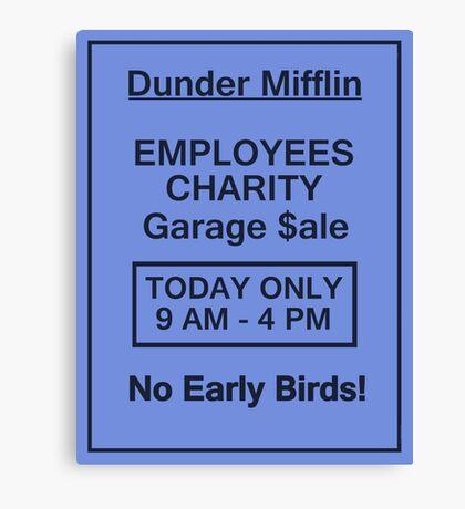 Garage Sale Sign Canvas Print