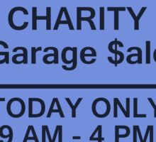 Garage Sale Sign Sticker