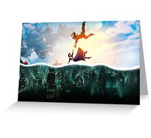 Bioshock Two Worlds Collide Greeting Card
