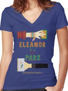 Eleanor and Park by Rainbow Rowell Book Cover Women's Fitted V-Neck T-Shirt