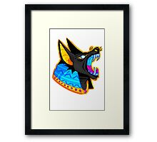 DOG OF THE DEAD (COLORED) Framed Print