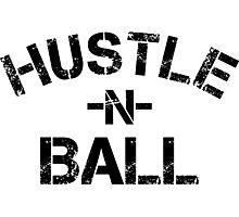 Hustle n Ball - Black Photographic Print