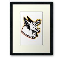 DOG OF THE DEAD (LINEART) Framed Print
