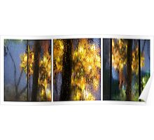 Rainy Day Blues Triptych Poster
