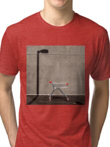 Lonely shopping trolley Tri-blend T-Shirt