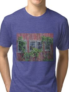 Barn Windows, by artist Lynn Garwood Tri-blend T-Shirt