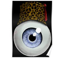 Eyeball with Leopard Fez Poster