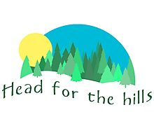 Head for the Hills - Mountain Forest Photographic Print