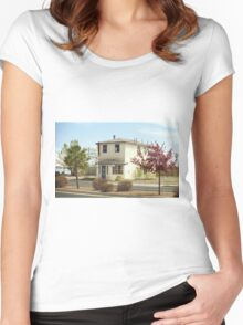 Route 66 - Wayside Motel Women's Fitted Scoop T-Shirt