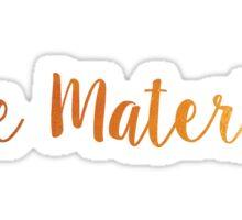 Bae Material Sticker