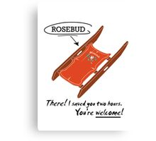 Movies - Rosebud Canvas Print