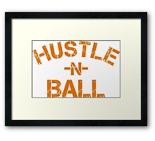 Hustle n Ball - Gold Framed Print