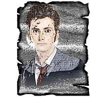 Tenth Doctor Pencil Color Sketch Photographic Print